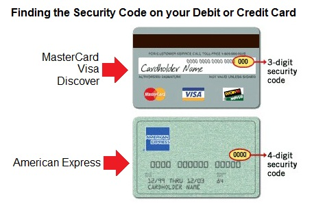 visa credit card numbers and security codes. your card#39;s security code.